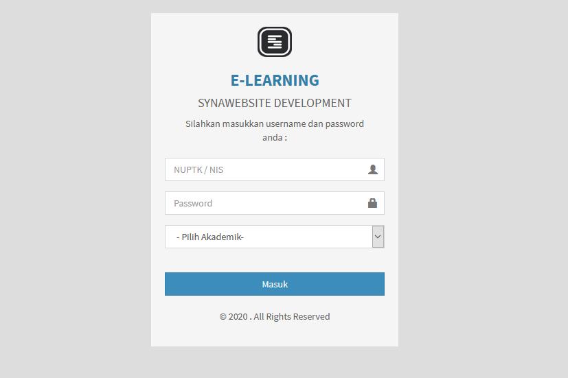 Aplikasi E-Learning Sekolah berbasis web dengan Codeigniter 3