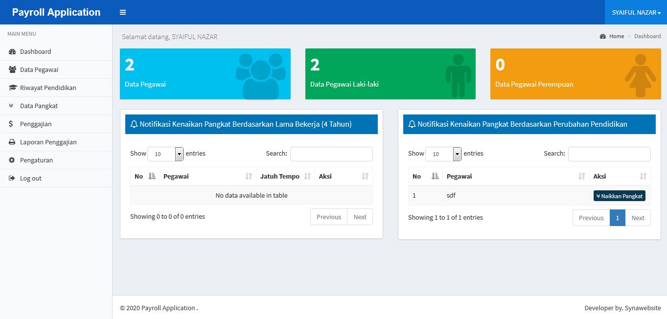 Source Code Aplikasi Payroll (Penggajian Sederhana) dengan Codeigniter Ajax dan Jquery
