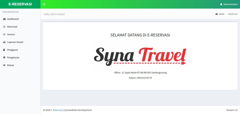 Aplikasi Reservasi Tiket Tour and Travel Berbasis Web (Codeigniter)