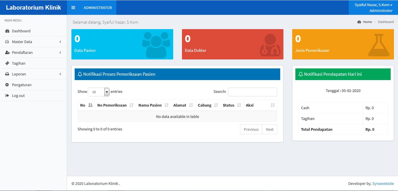 Download Source Code Aplikasi Laboratorium Klinik Multi Cabang dengan Codeigniter Ajax dan Jquery