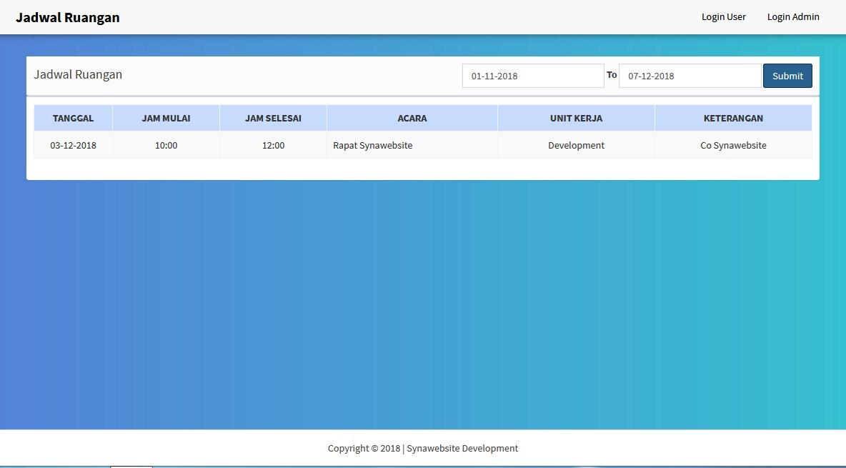 Download Sistem Informasi Peminjaman Ruang Berbasis Web