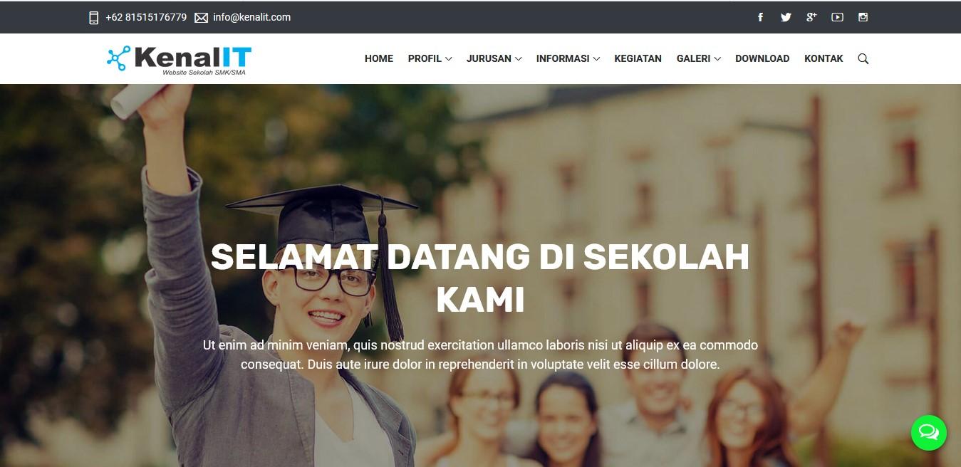 Download Sourcecode Website Sekolah untuk SMK/SMA Siap Pakai Versi 4