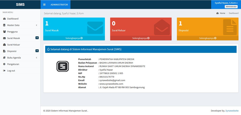 Download Sistem Informasi Manajemen Surat (Aplikasi Disposisi Surat) Berbasis Web dengan Codeigniter