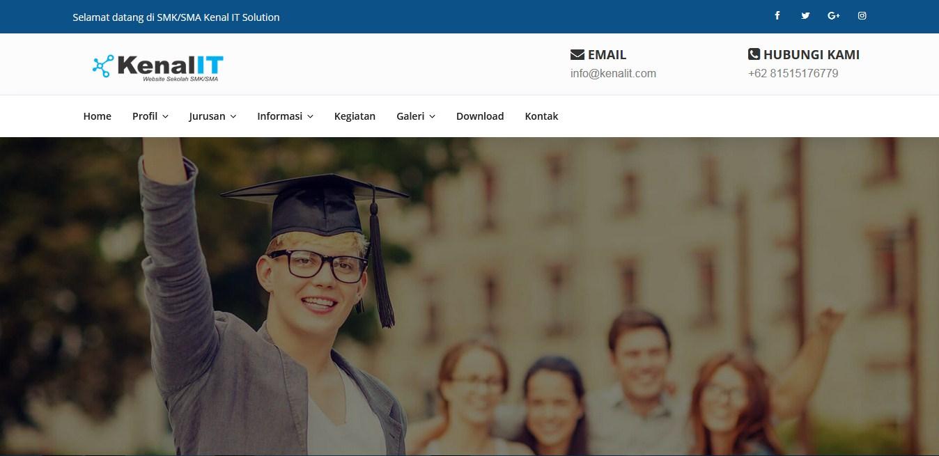 Download Sourcecode Website Sekolah untuk SMK/SMA Siap Pakai Versi 2