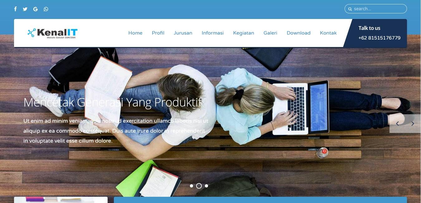 Download Sourcecode Website Sekolah untuk SMK/SMA Siap Pakai Versi 3